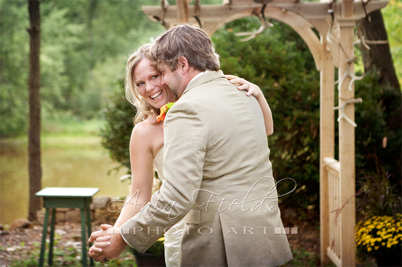Wisconsin backyard wedding