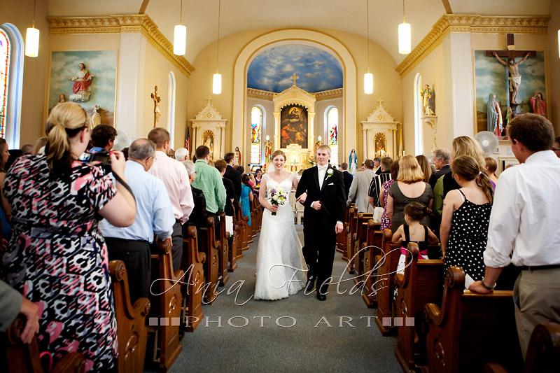 St Norbert church wedding Roxbury