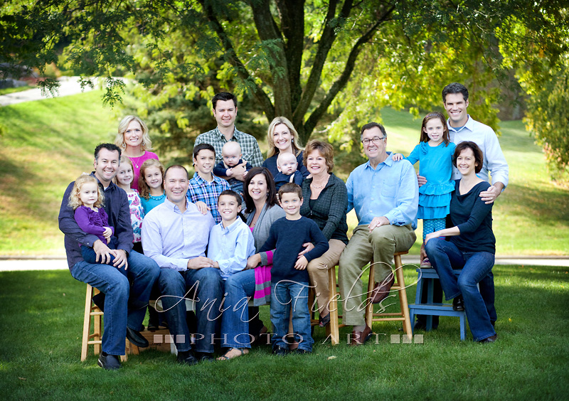 Large family session wi