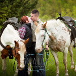 engagement photos-with-horses