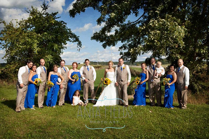 outdoor farm wedding Wisconsin