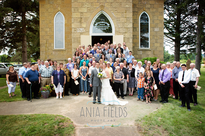 historic Salem church wedding