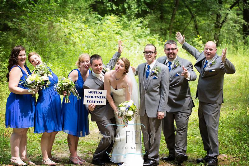 weird wedding party photo