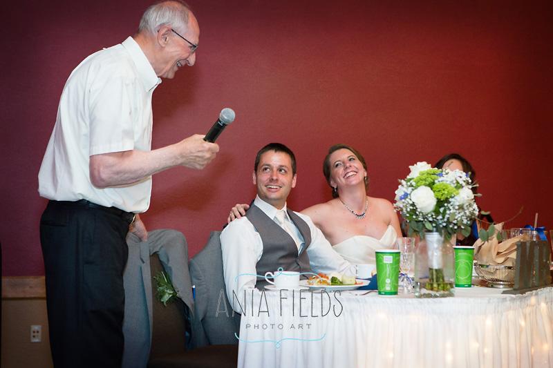 grandpa giving a toast at wedding