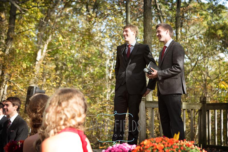 wedding ceremony at Blue Mound State park