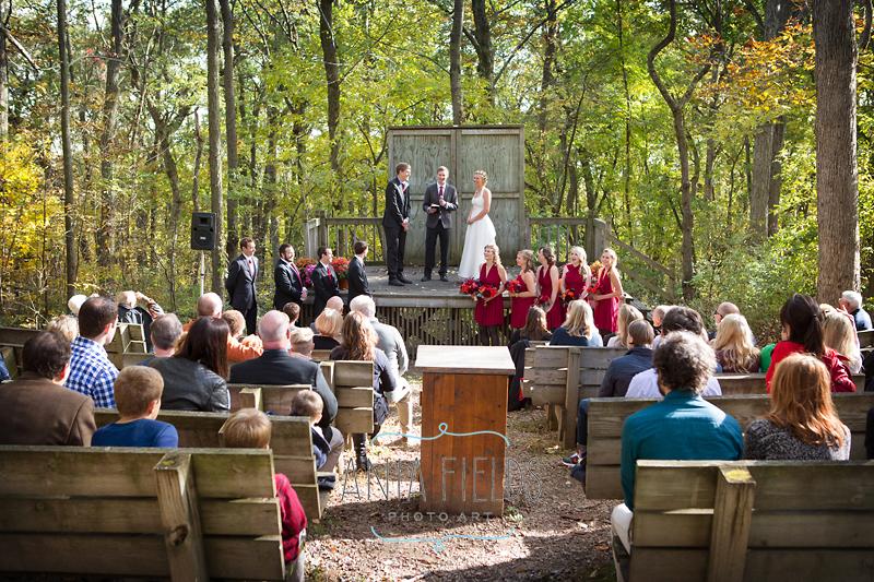 Blue Mound State Park wedding ceremony