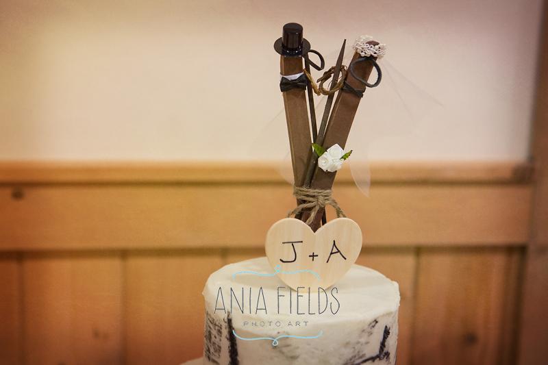 skis wedding cakes