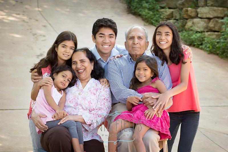 grandparents with grand kids photo idea
