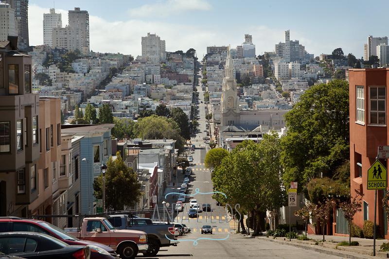 steep Filbert St San Francisco