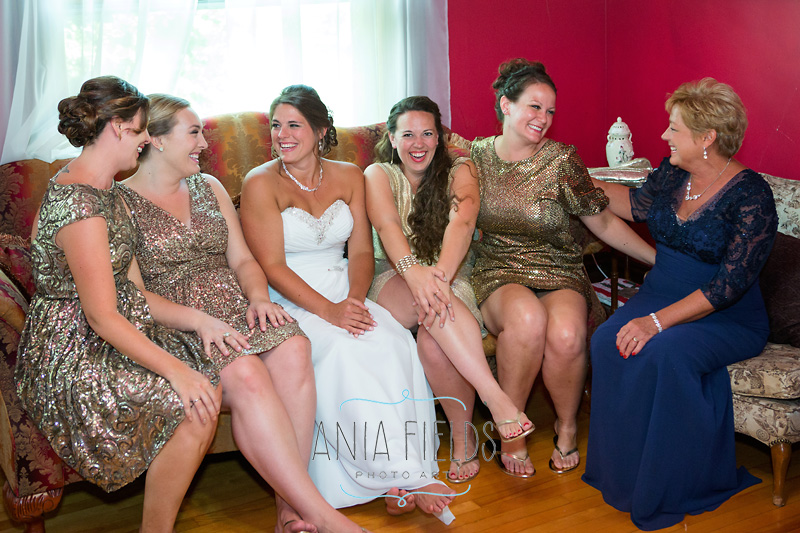 bridesmaids at The Gollmar Guest House