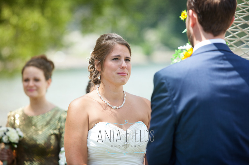 summer Devil's Lake wedding
