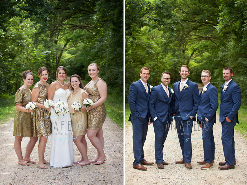 wedding party portraits at Devil's Lake State park