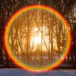 winter sun halo