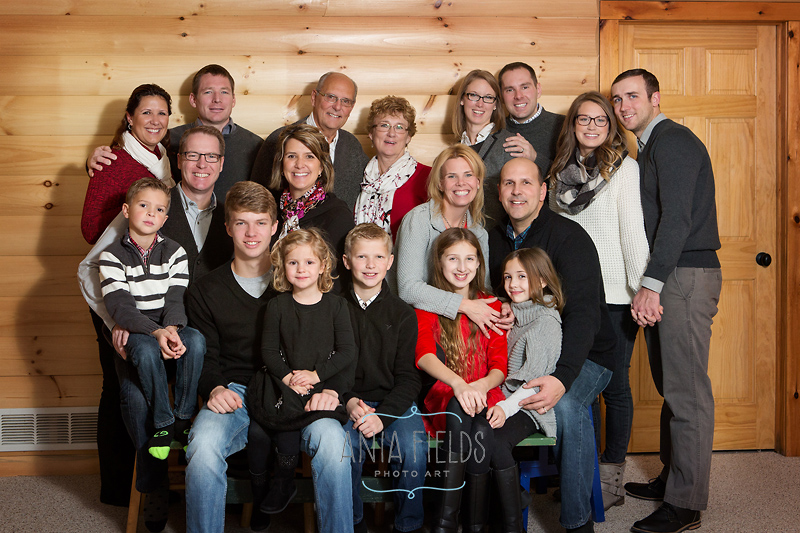 extended family photos indoors