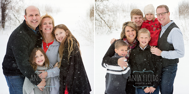 winter family portraits Madison WI