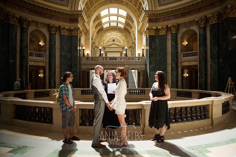 capitol rotunda wedding Madison WI