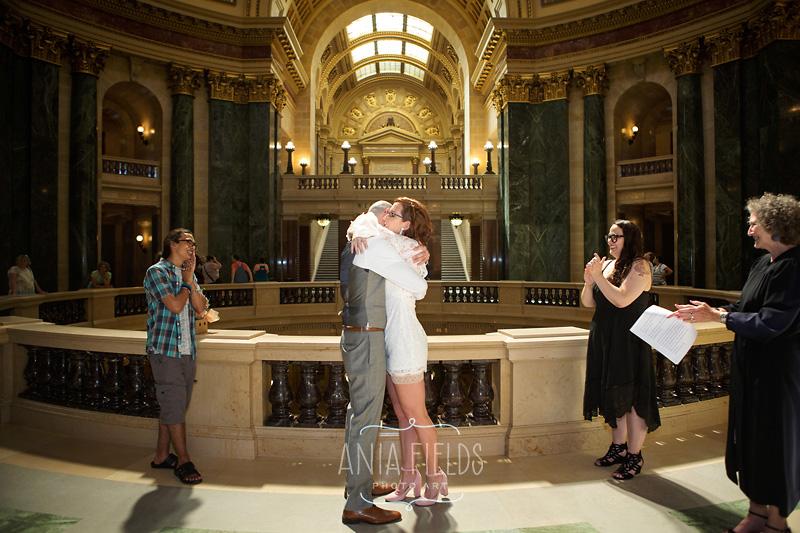 Madison WI capitol wedding