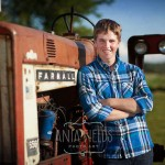 senior pictures with tractor