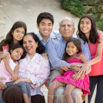 grandparents with grand kids photo idea